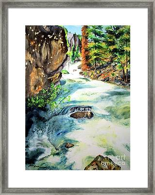 Lake Como Waterfall Framed Print by Tracy Rose Moyers