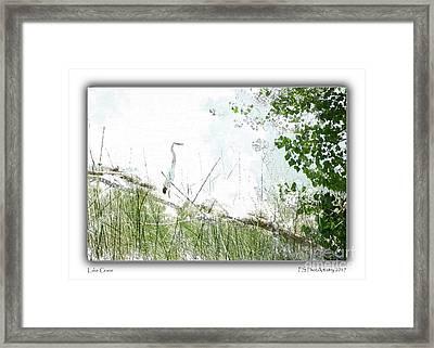 Lake Crane Framed Print