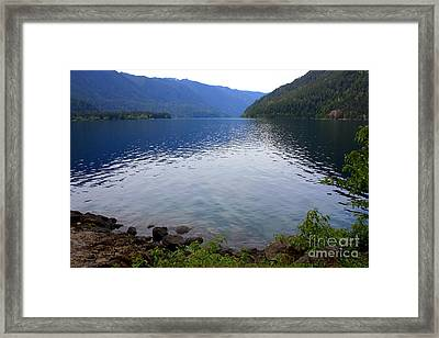 Lake Crescent - Digital Painting Framed Print by Carol Groenen