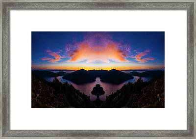 Lake Crescent Reflection Framed Print by Pelo Blanco Photo