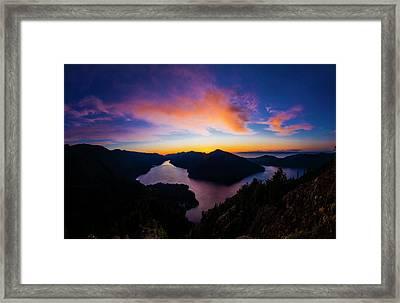 Lake Crescent Sunset Framed Print