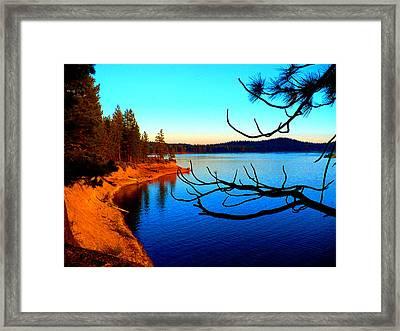 Lake Davis Framed Print by Chad Rice