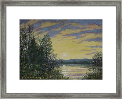 Lake Dawn Framed Print by Kathleen McDermott
