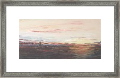Framed Print featuring the painting Lake by Diane Daigle