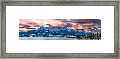 Framed Print featuring the photograph Lake Dillon by Sebastian Musial
