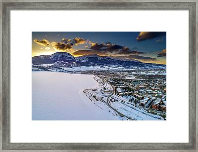 Lake Dillon Sunset Framed Print by Sebastian Musial