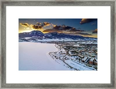 Lake Dillon Sunset Framed Print by Sebastian Musial