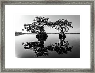 Lake Disston Old Couple Framed Print