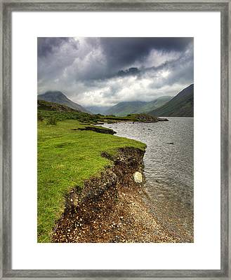 Lake District England Waswater Framed Print by Tom  Wray