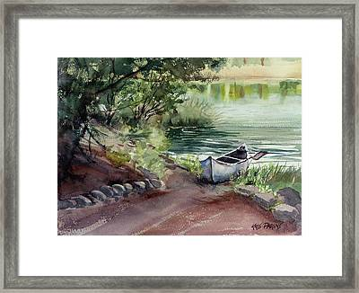 Framed Print featuring the painting Lake Dreams by Kris Parins