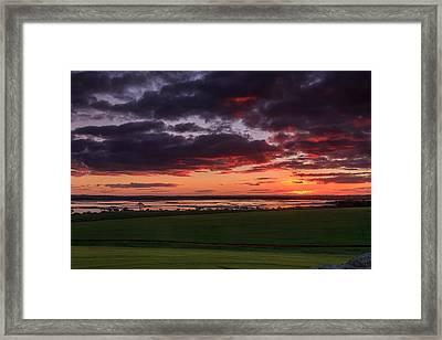 Lake Dumbleyung Sunset Framed Print