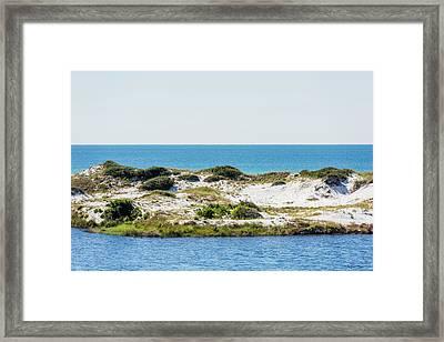 Lake Dunes Gulf Sky Framed Print