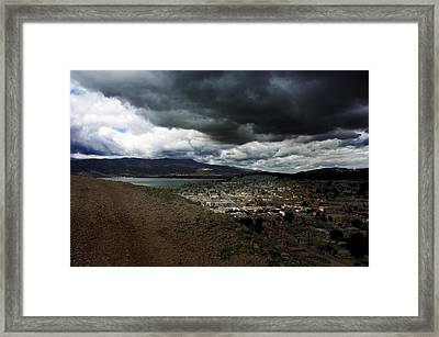 Lake Elsinore Waiting Framed Print by Richard Gordon