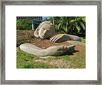 Lake Eola Muse Sculpture Framed Print by Denise Mazzocco