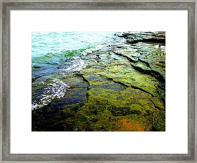 Lake Erie Flat Rocks  Framed Print