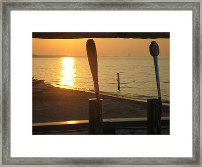Lake Erie On Tap Framed Print by Toni Jackson