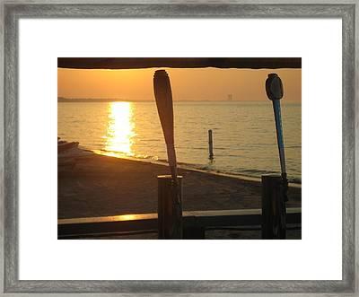 Lake Erie On Tap Framed Print by Toni Jackson