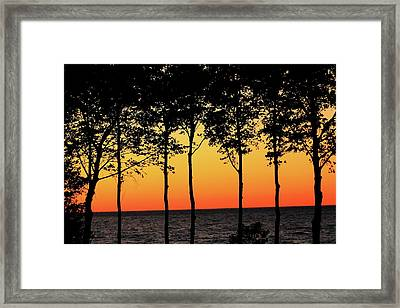 Framed Print featuring the photograph Lake Erie Silhouettes by Bruce Patrick Smith