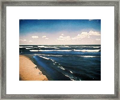 Lake Erie Whitecaps  Framed Print by Shawna Rowe