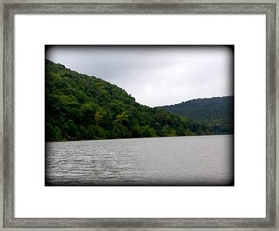 Lake Forest Hill Framed Print by Lesli Sherwin