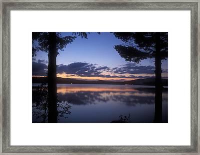 Lake Francis Twilight Framed Print by John Burk