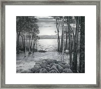 Lake Front Framed Print