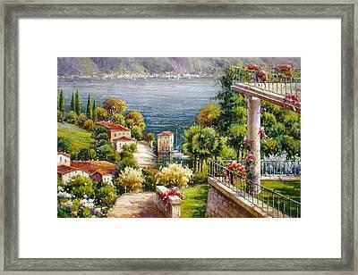 Lake Front Villa Framed Print