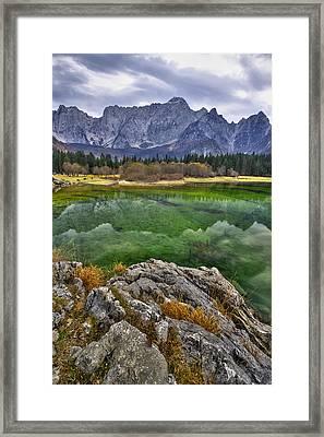 Lake Fusine Framed Print