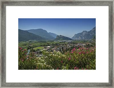Lake Garda Arco And Surroundings Framed Print