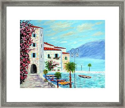 Lake Garda Bliss Framed Print