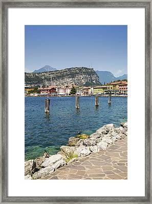 Lake Garda Torbole Lakeside Framed Print by Melanie Viola