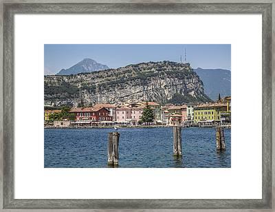 Lake Garda Torbole Riverside Framed Print by Melanie Viola