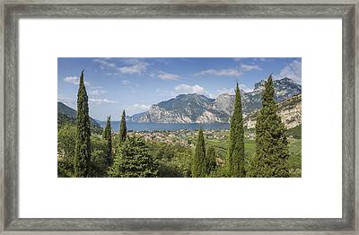 Lake Garda Wonderful Panoramic View Framed Print