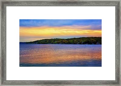 Lake Geneva Sunset Framed Print