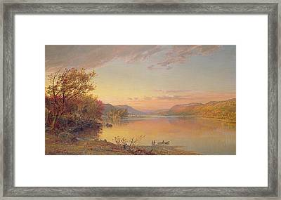 Lake George  Ny Framed Print by Jasper Francis Cropsey