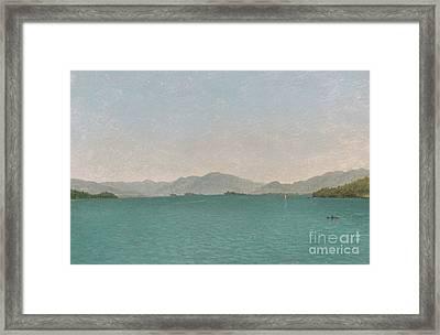 Lake George, Free Study, 1872 Framed Print by John Frederick Kensett