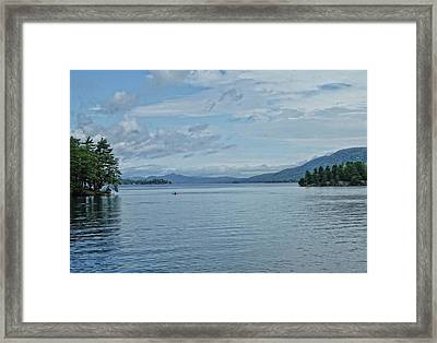 Lake George Kayaker Framed Print