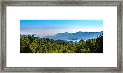 Lake George, Ny And The Adirondack Mountains Framed Print by Brian Caldwell