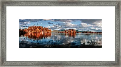 Lake George Panorama  Framed Print