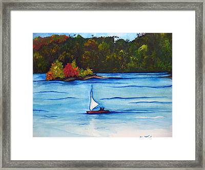 Framed Print featuring the painting Lake Glenville  Sold by Lil Taylor