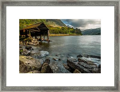 Lake Gwynant Autumn Framed Print by Adrian Evans