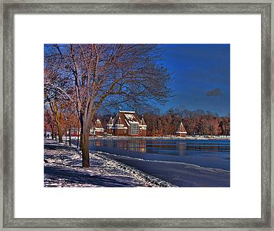 Lake Harriet Bandshell Framed Print by Laurie Prentice