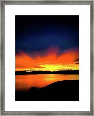 Lake Havasu Sunset Framed Print
