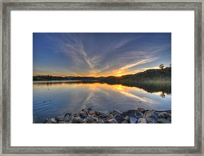 Lake Hodges Sunset Framed Print