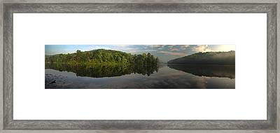 Lake Hope Sunrise Panorama Framed Print