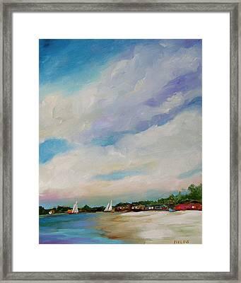 Lake House Framed Print by Karen Fields