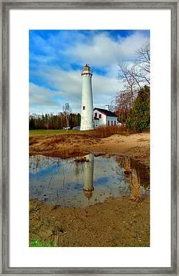 Lake Huron Lighthouse Framed Print