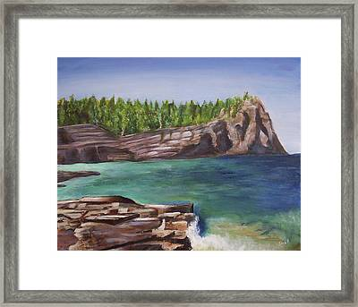 Lake Huron Framed Print by Silvia Philippsohn
