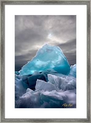 Lake Ice Berg Framed Print