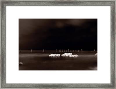 Lake Ice Framed Print by Steve Gadomski